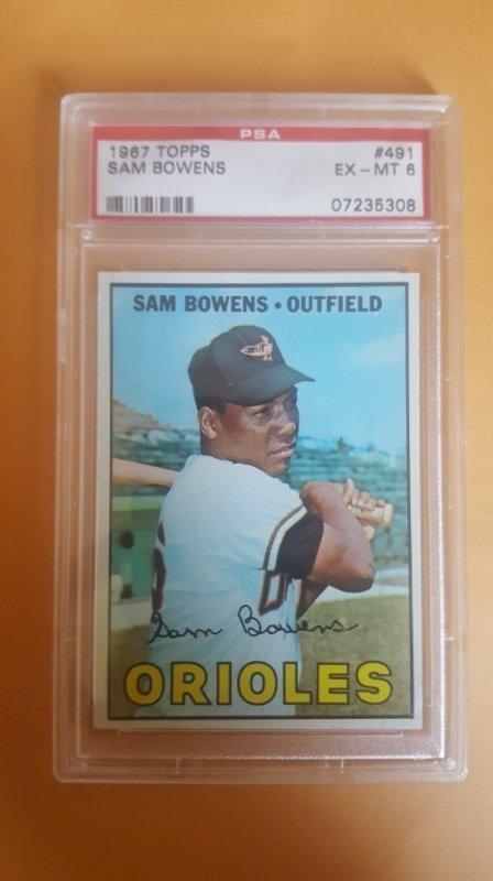 1967 Topps #491 Sam Bowens