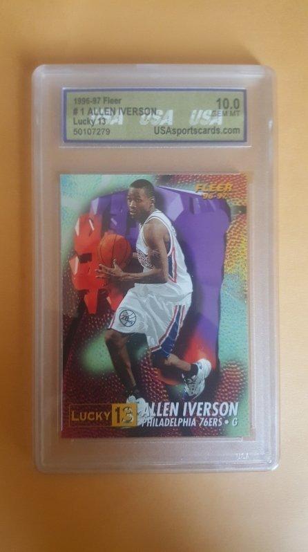 1996-97 Fleer Lucky 13 #1 Allen Iverson