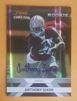 2010 Panini Threads Autographs Silver #206 Anthony