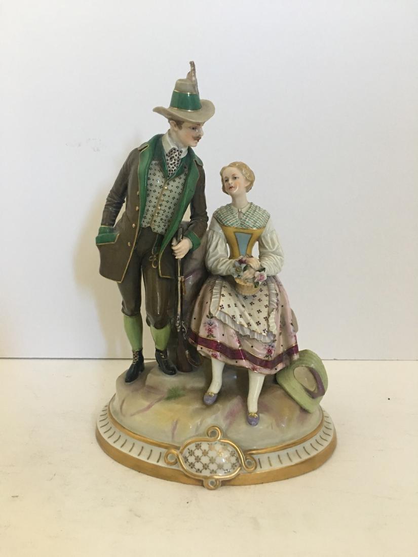 Antique Royal Vienna Couple