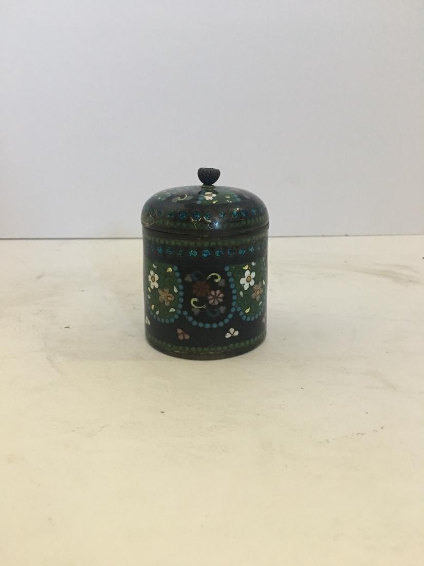 Antique Japanese cloisonne jar