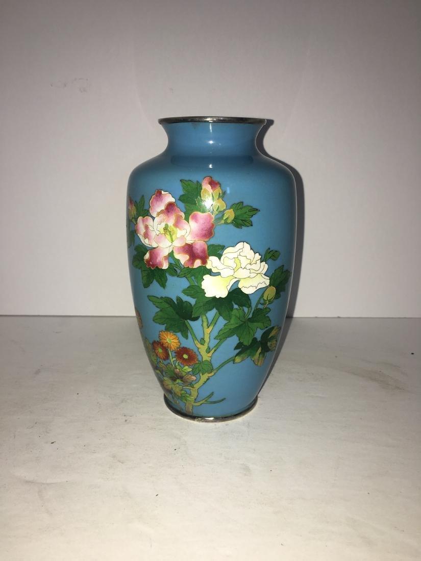 Antique Japanese cloisonne vase