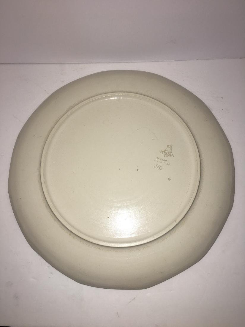 Art Nouveau Etched Mettlach Plate - 2