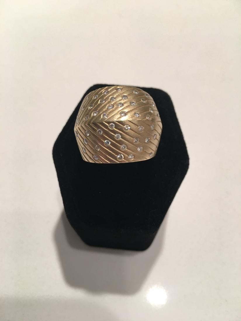 Vintage ring 14kt gold and diamonds