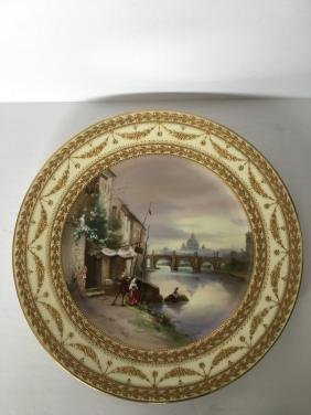 Antique royal vienna  handpainted signed plate