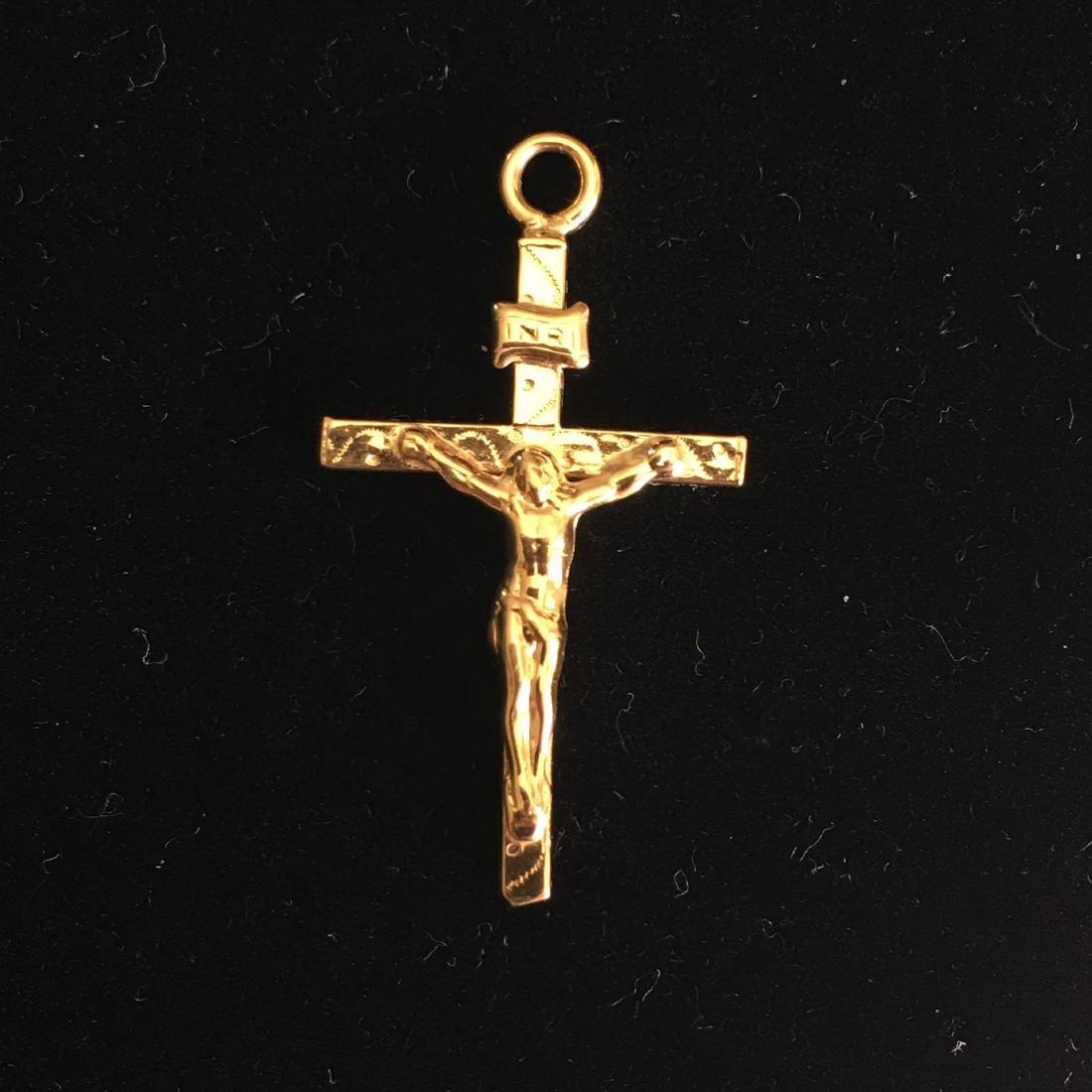 18kt cross pendant