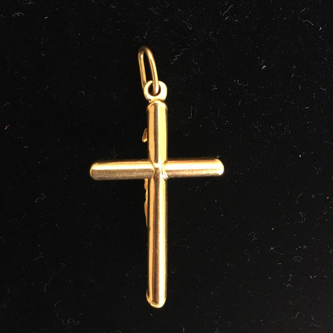18kt cross pendant - 3