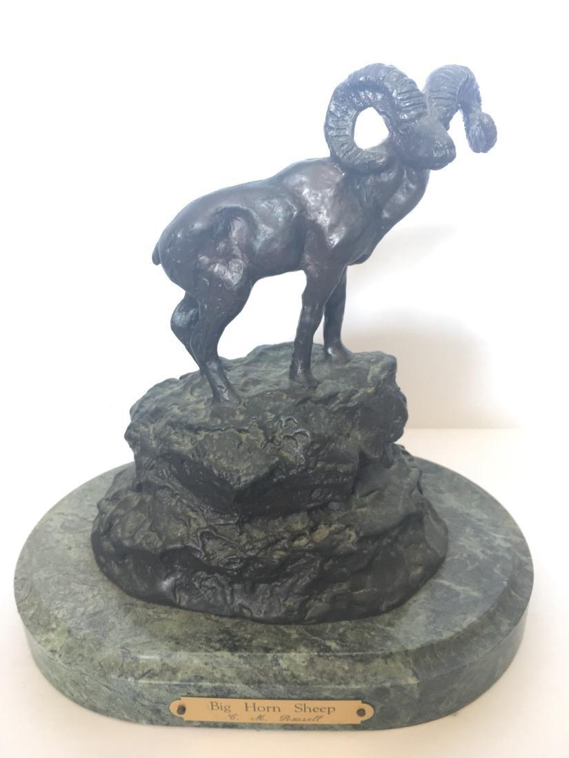 Big Horn Sheep Collectible Solid Bronze Sculpture