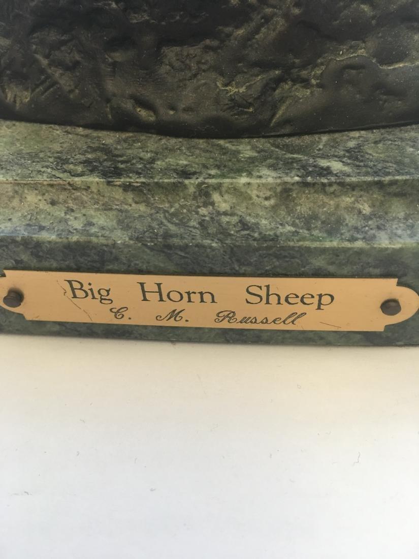 Big Horn Sheep Collectible Solid Bronze Sculpture - 2