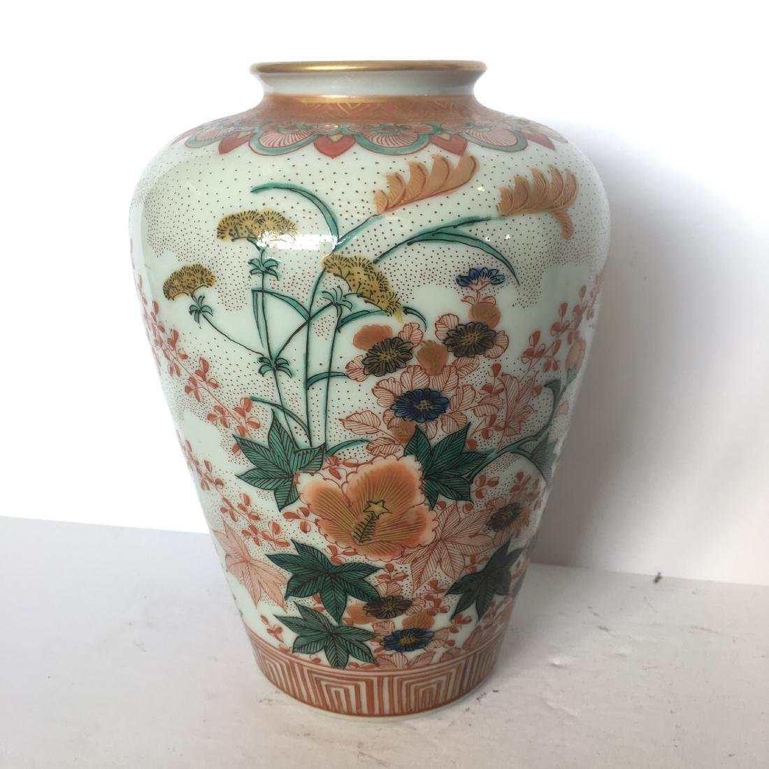 Old japanese kutani handpainted vase