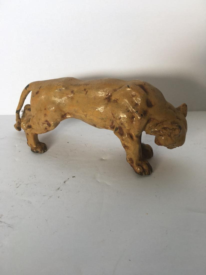 Antique polychrome lion