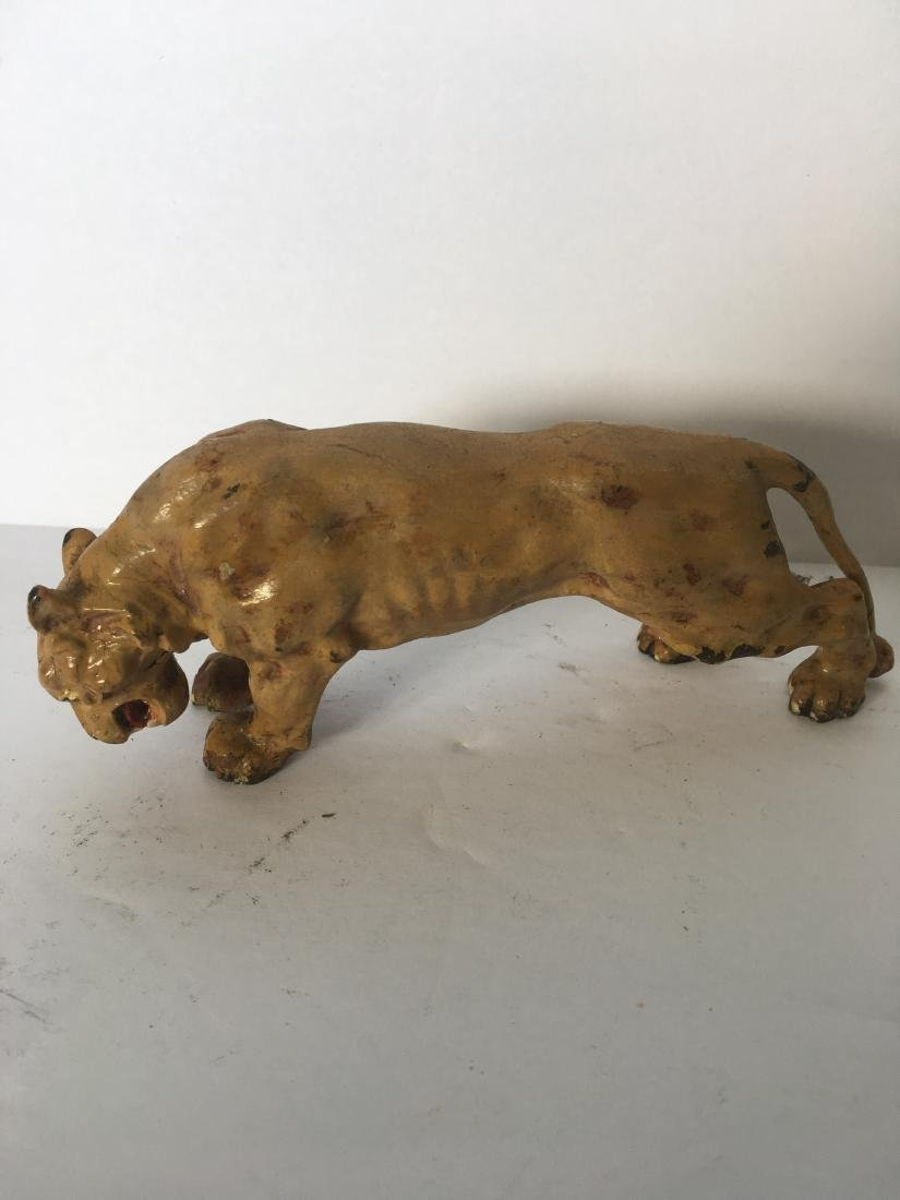 Antique polychrome lion - 2