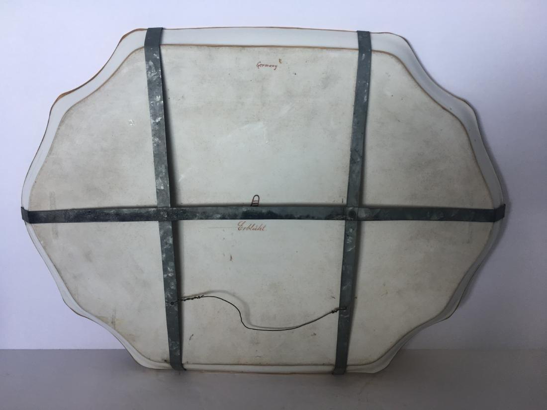 Antique vienna porcelain and enamel plate Erbluht - 4