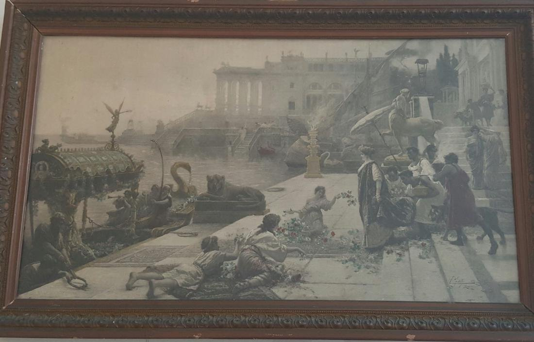 Antique chromolithography by Ettore Forti (The