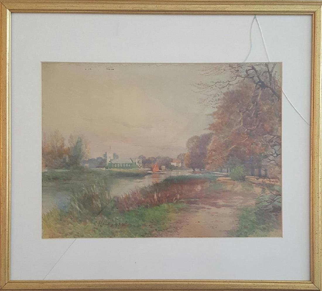 Old watercolor by Charles James Lauder
