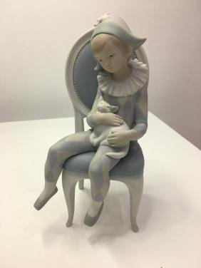 Lladro figurine young Harlequin