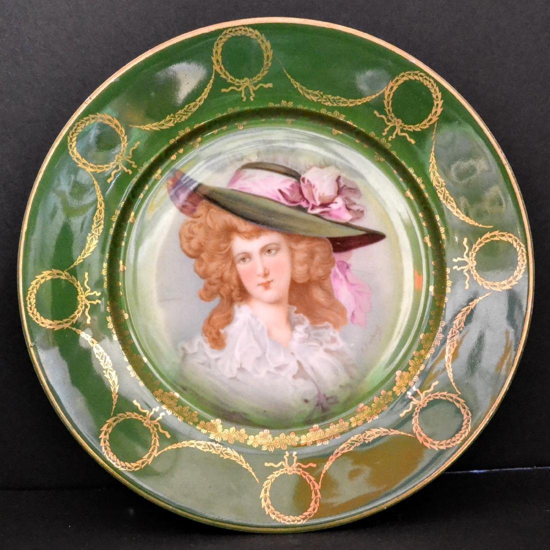 Bavarian Handpainted Decorative Plate