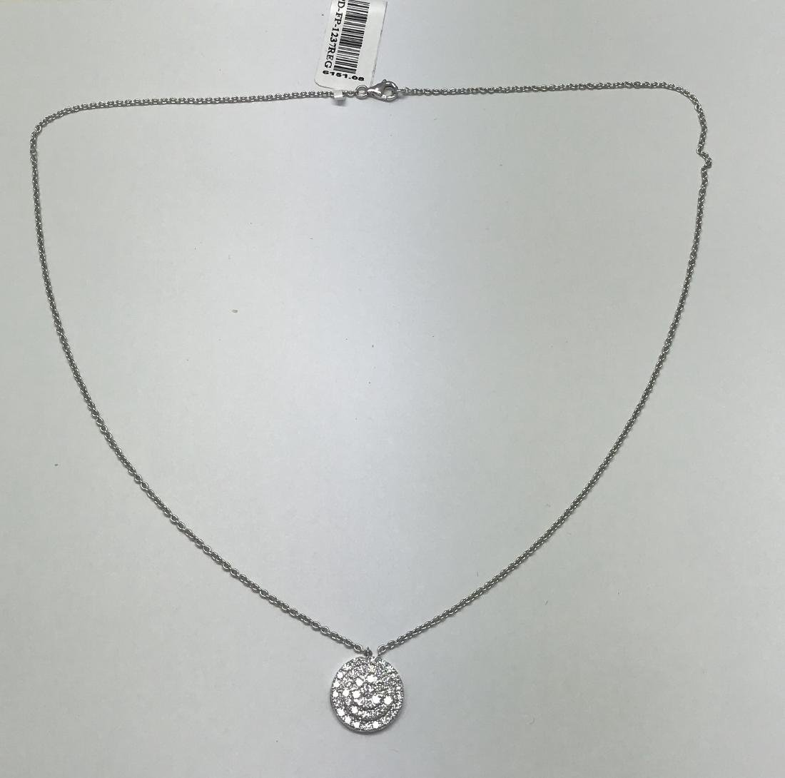 Certified White Gold Pendant with diamonds