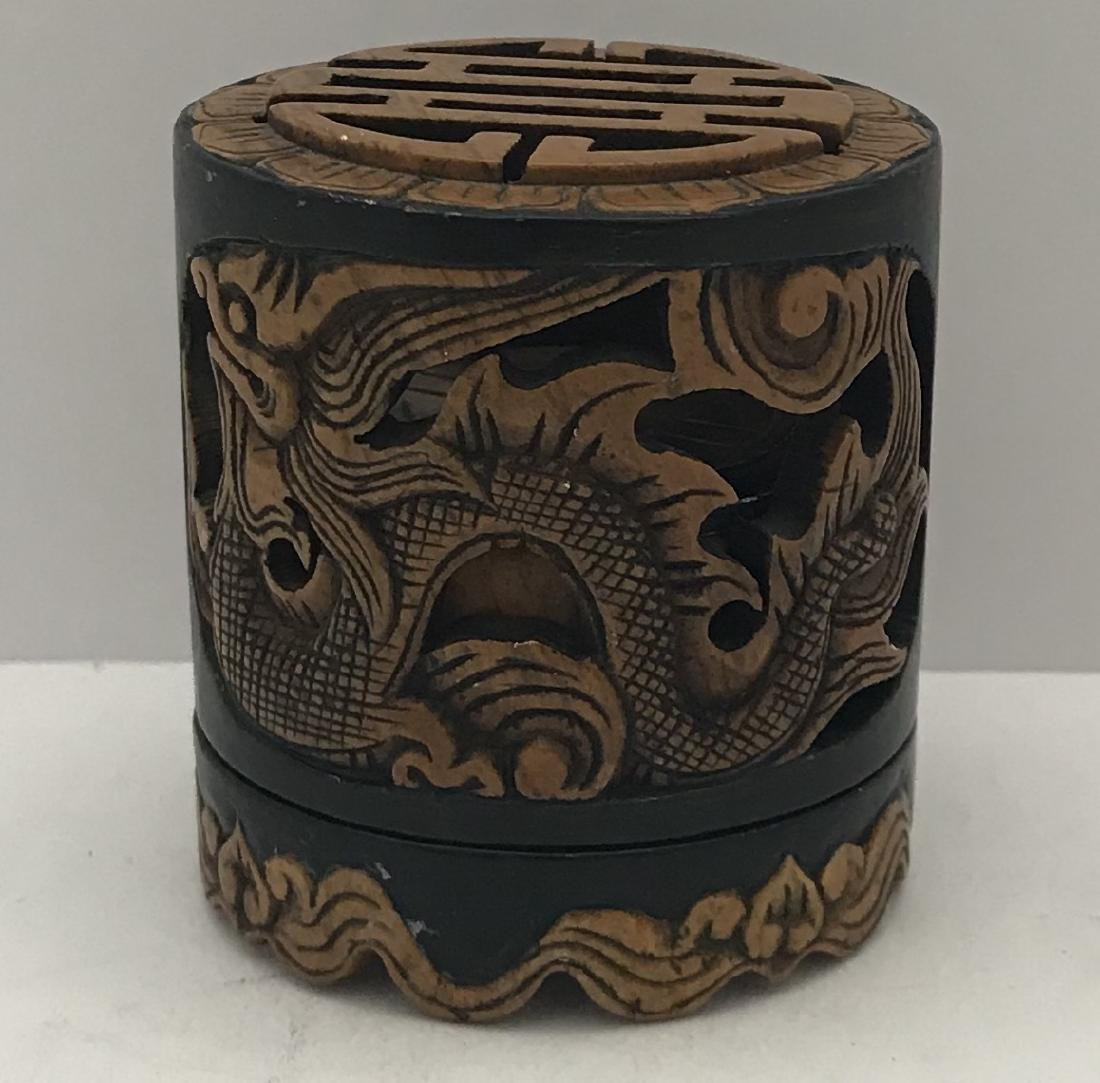 Antique chinese rare hand carved incense burner
