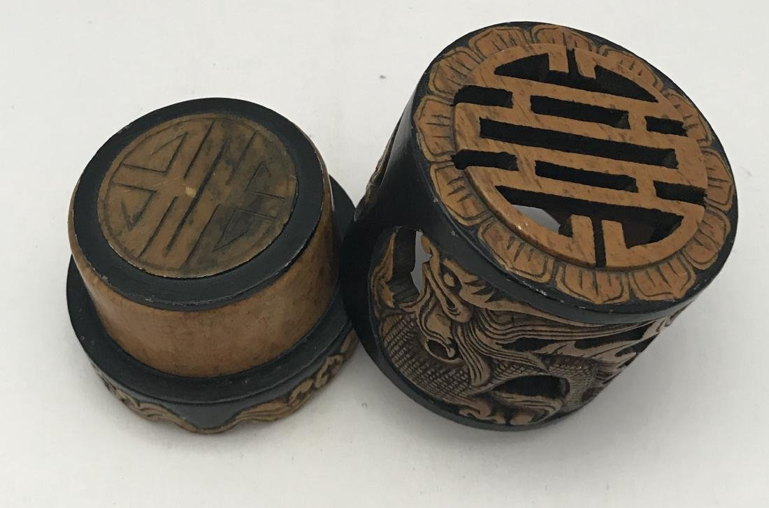 Antique chinese rare hand carved incense burner - 3