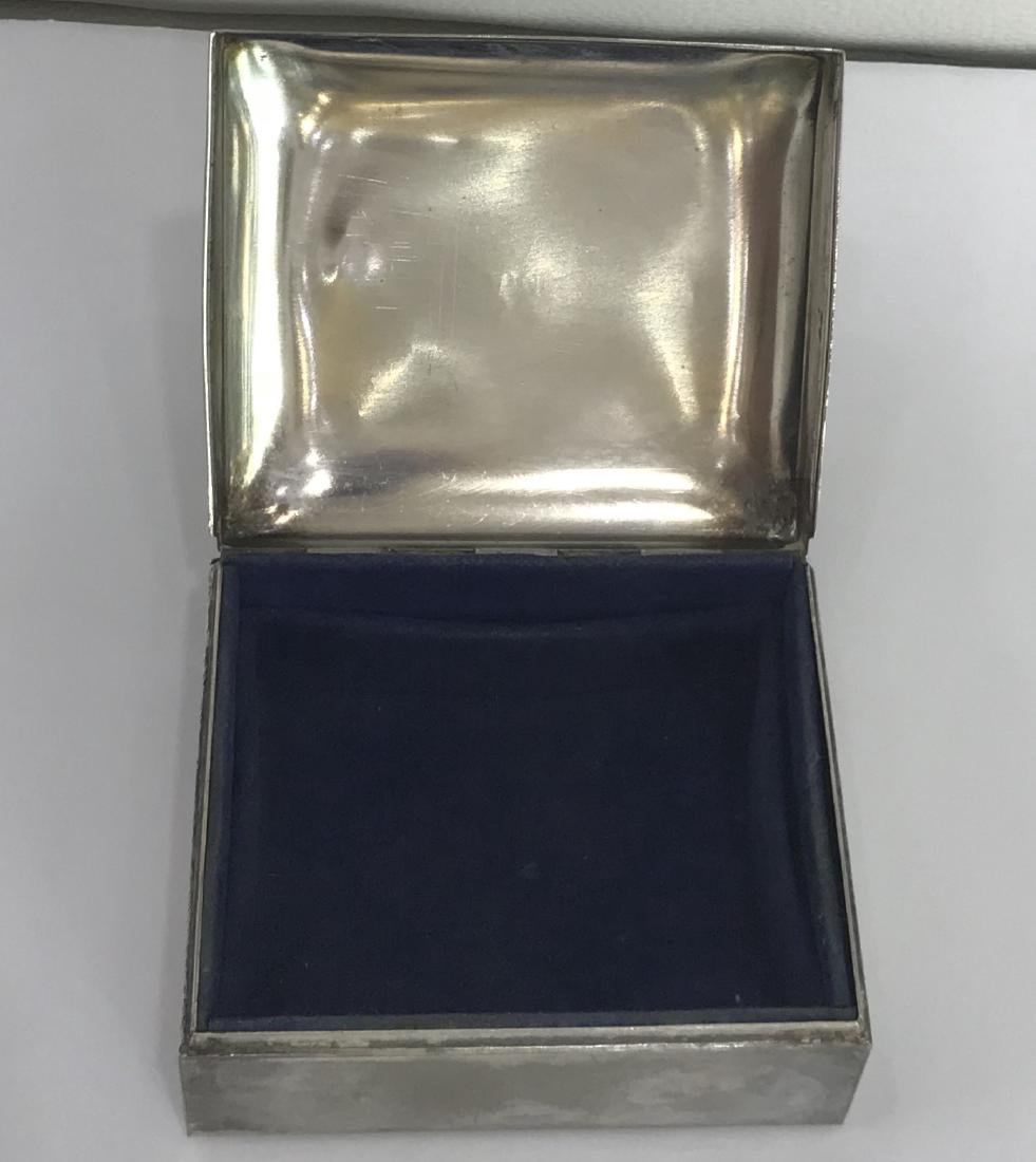 Sterling Silver Cigarette Box by Poole - Mid-Century - 2