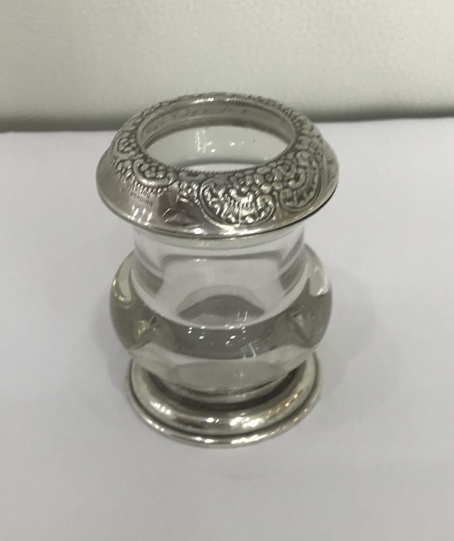 Frank M. Whiting Sterling Silver and Glass Toothpick