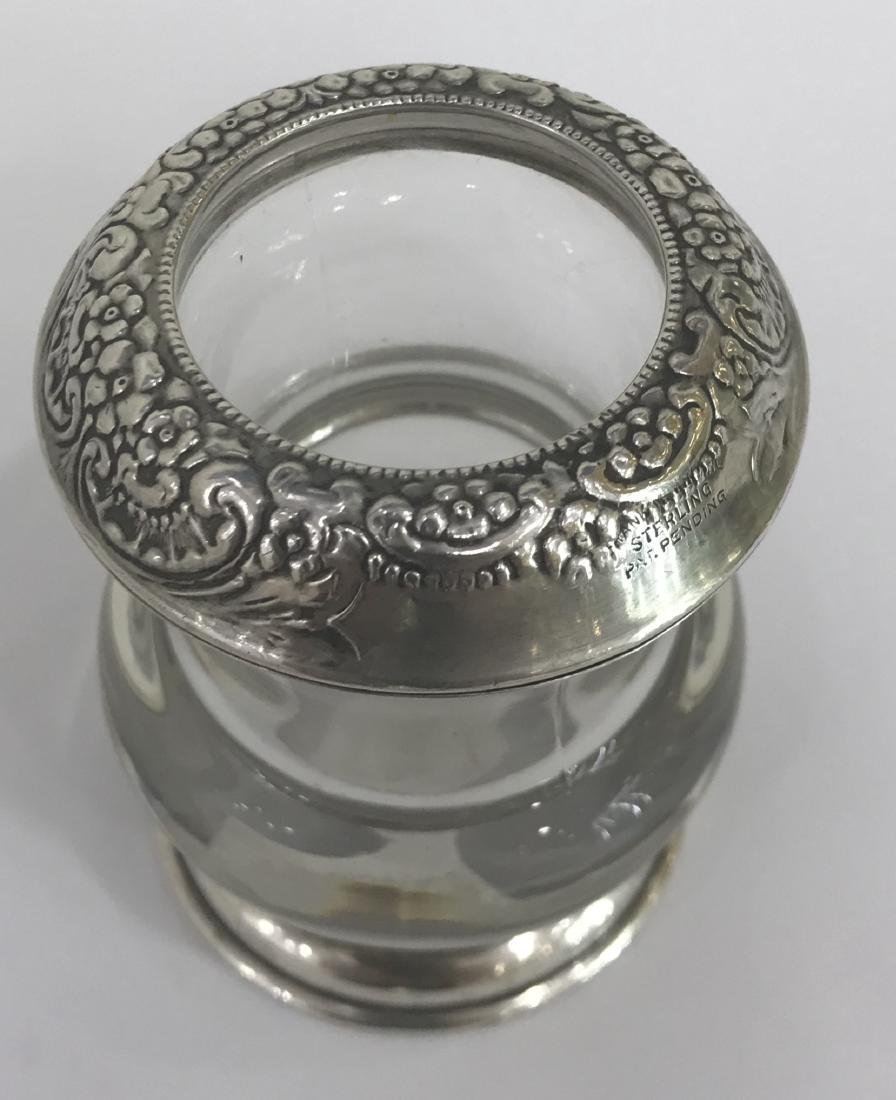 Frank M. Whiting Sterling Silver and Glass Toothpick - 4