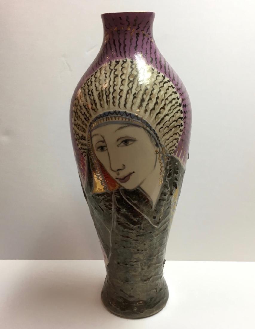 Beautiful ceramic vase by Trujillo, Cuban Artist
