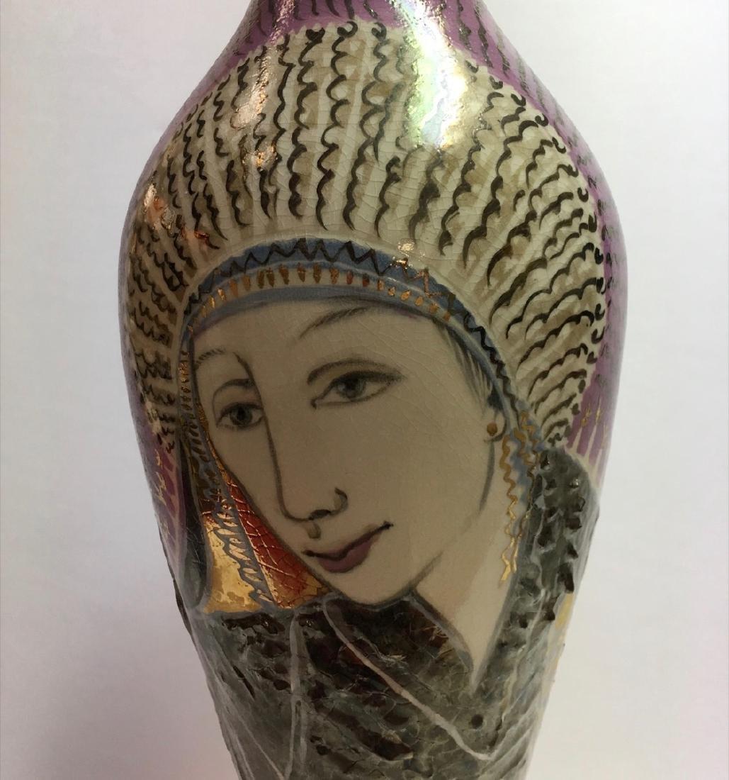 Beautiful ceramic vase by Trujillo, Cuban Artist - 2