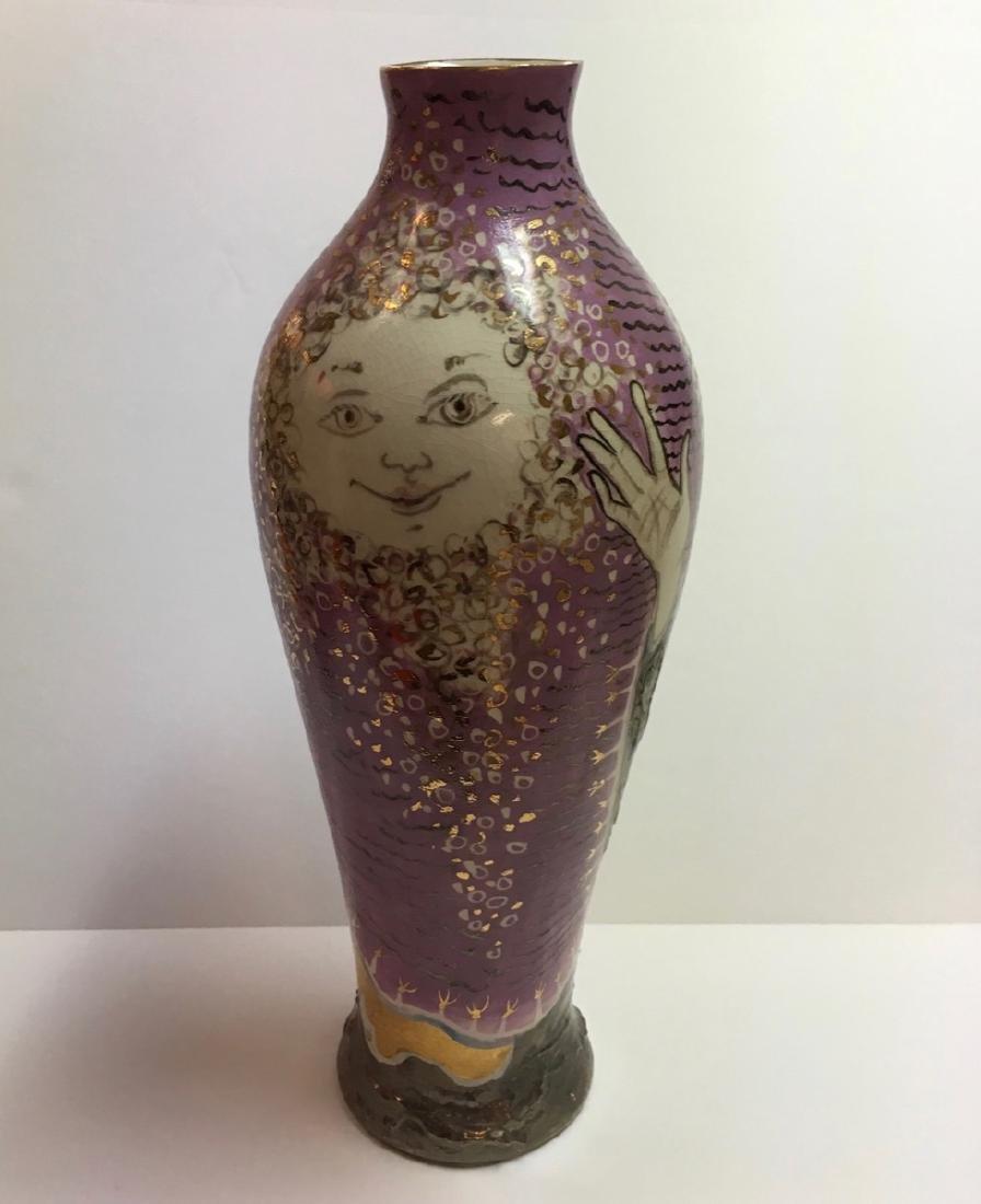 Beautiful ceramic vase by Trujillo, Cuban Artist - 3