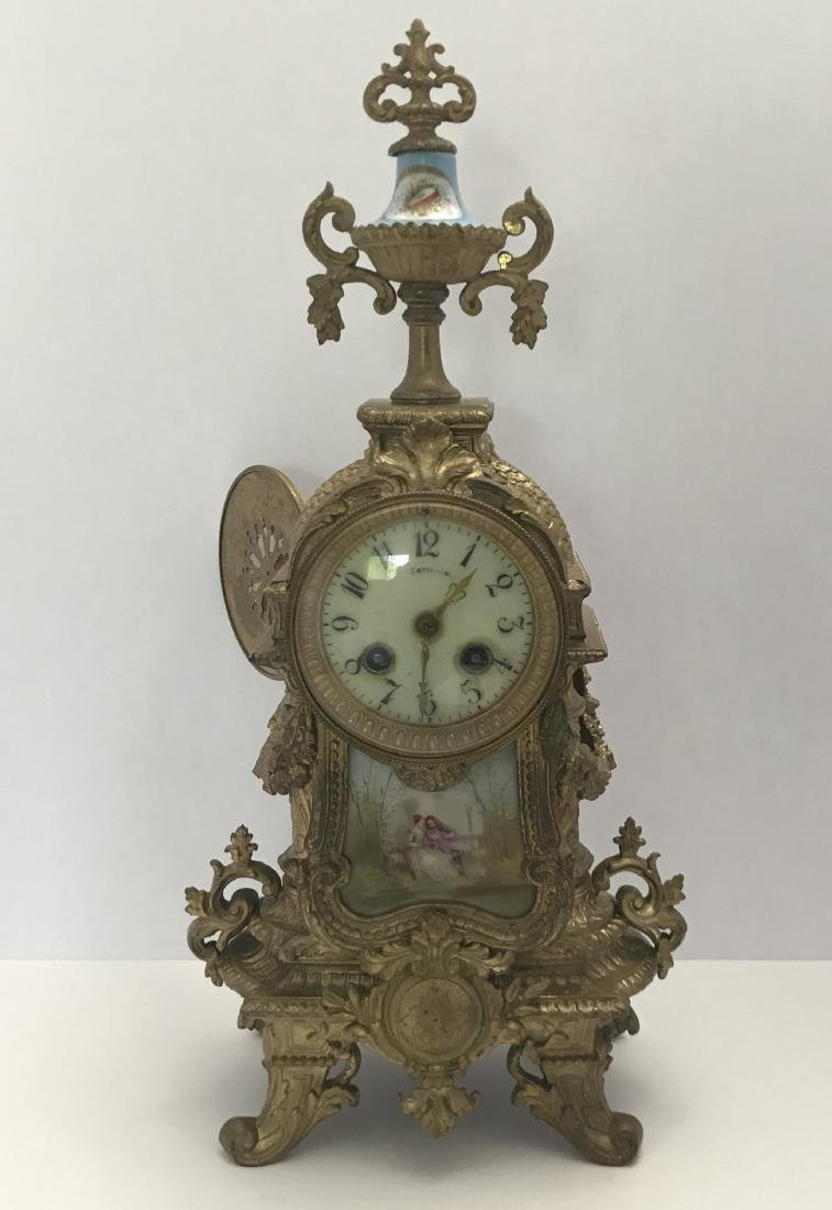 19th Century Louis XV Style Mantel Clock