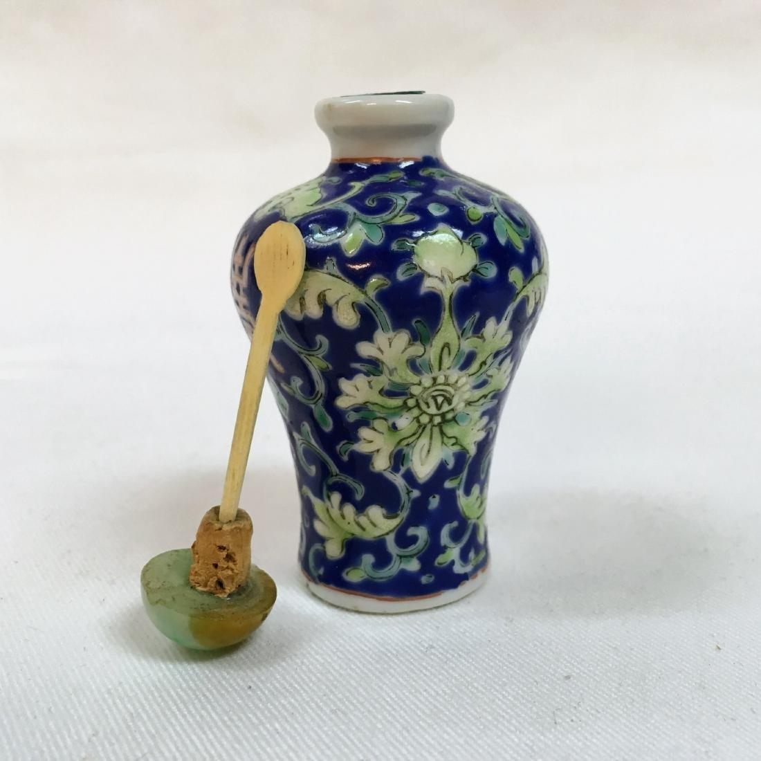 Chinese underglaze blue and green glazed porcelain - 5