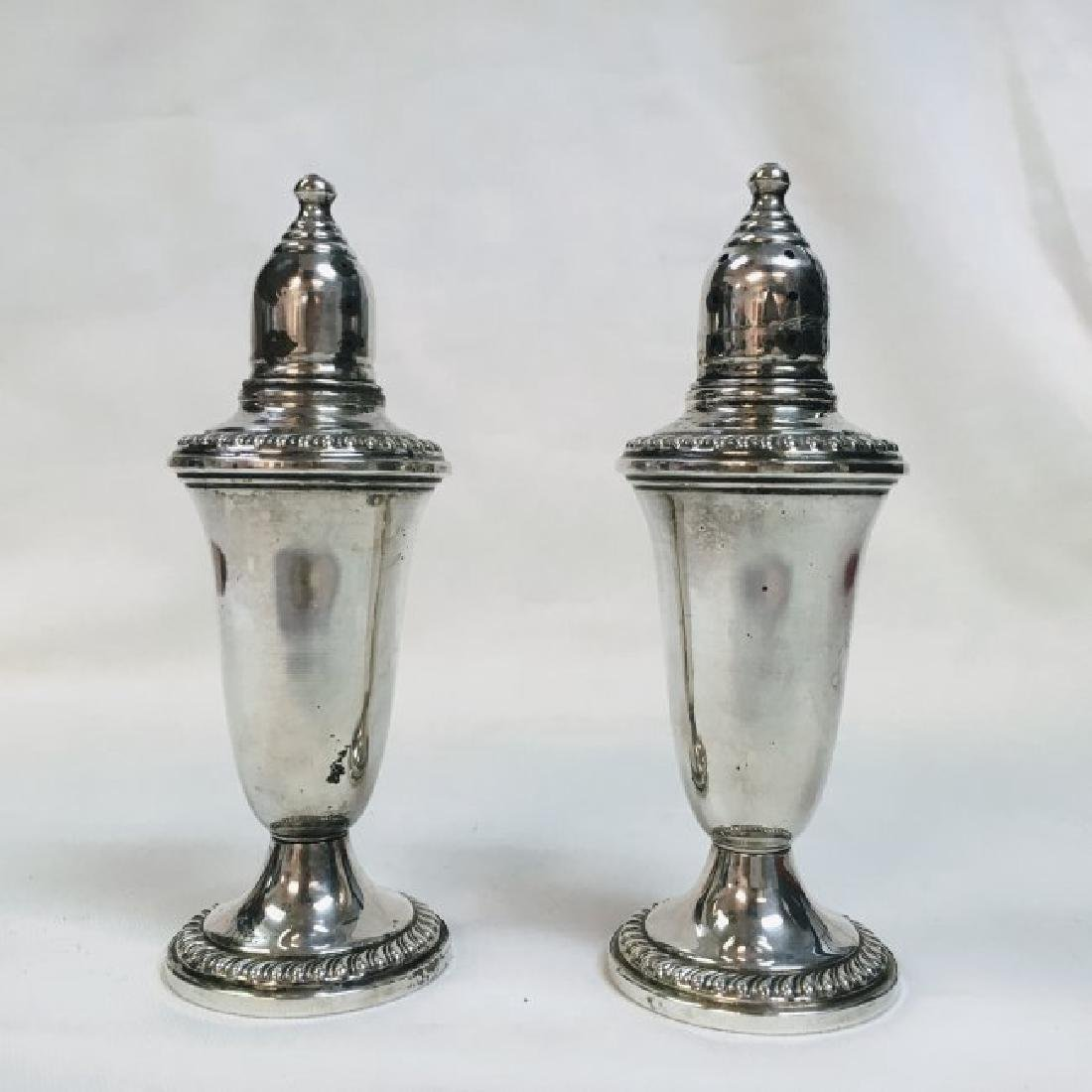 Vintage Empire Sterling Weighted Silver Salt and Pepper