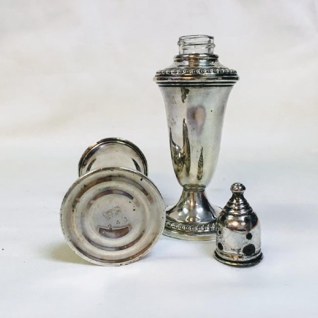 Vintage Empire Sterling Weighted Silver Salt and Pepper - 3