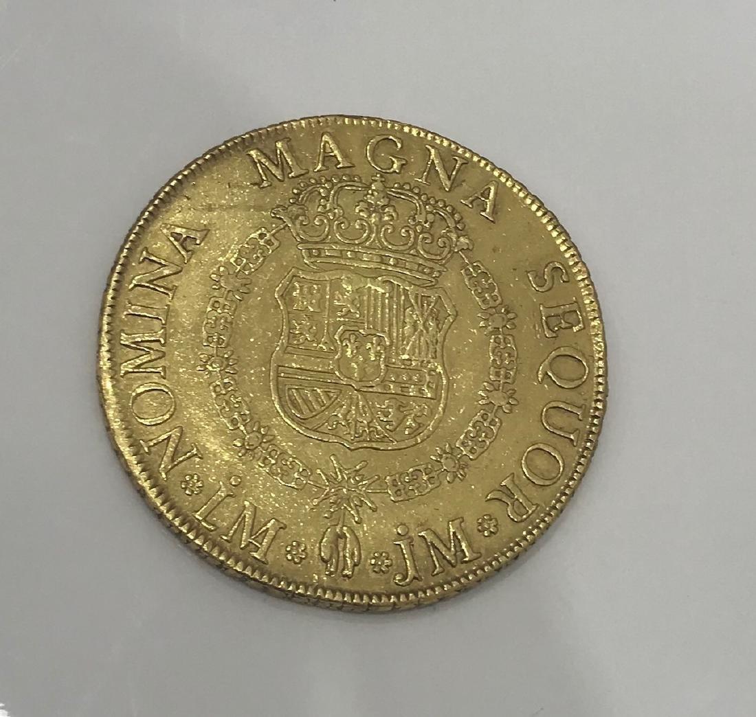 Antique Gold Coin Ferdinand VI gold 8 Escudos 1754 LM-J