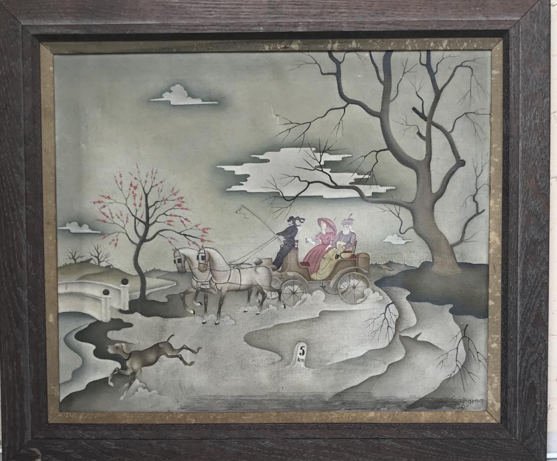 Barna Basilides, Hungarian (1903-1967) Oil on Canvas
