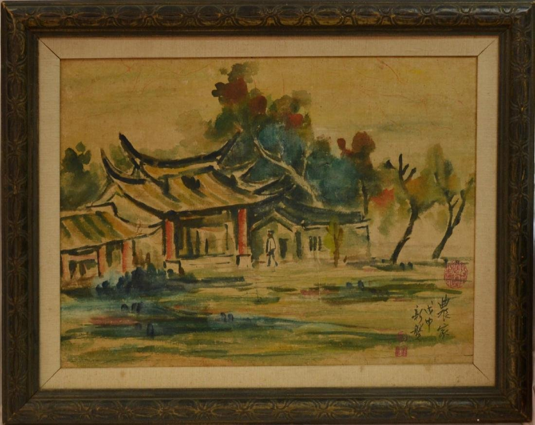 Vitange rare Chinese watercolor signed Artist