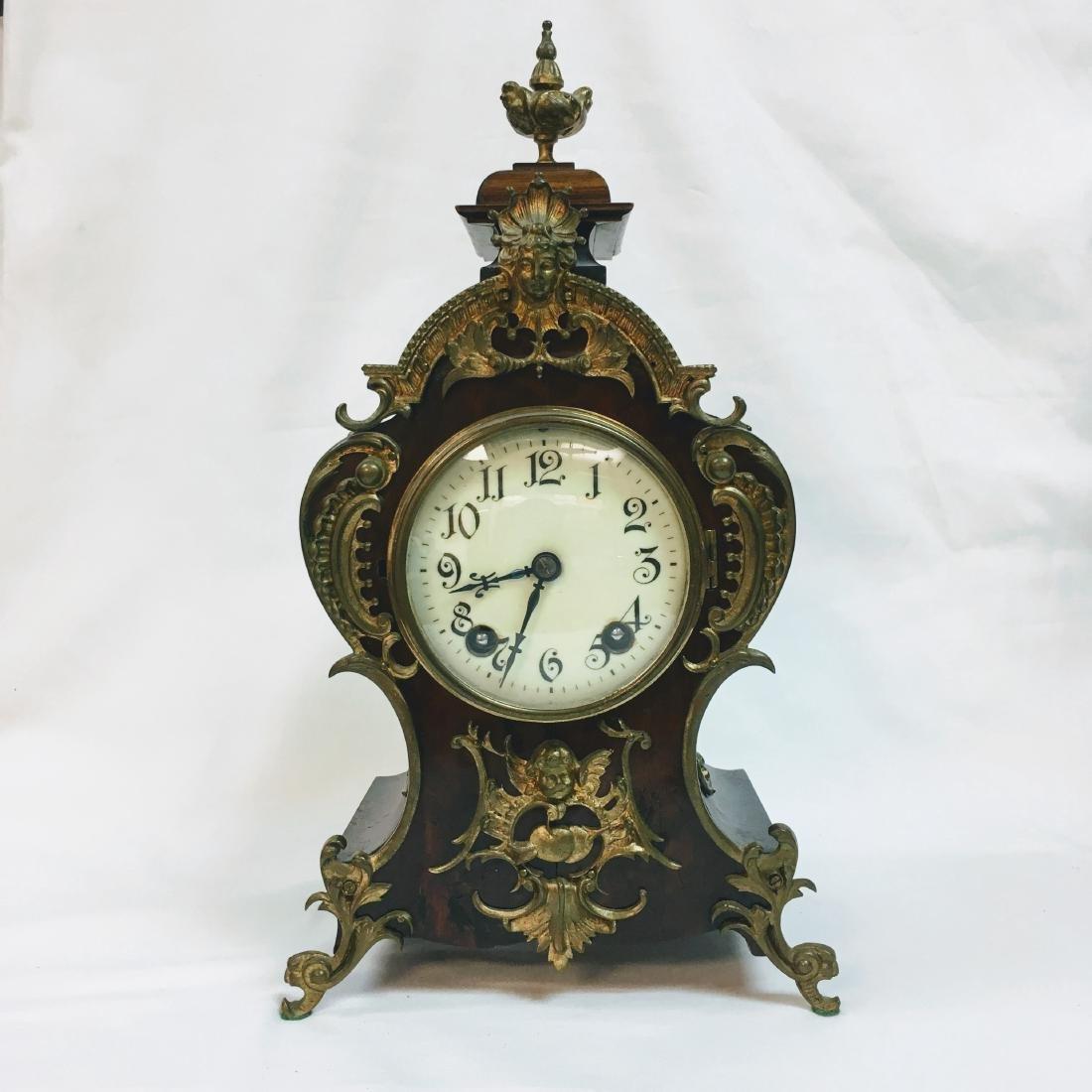 Antique German Lenzkirch walnut clock
