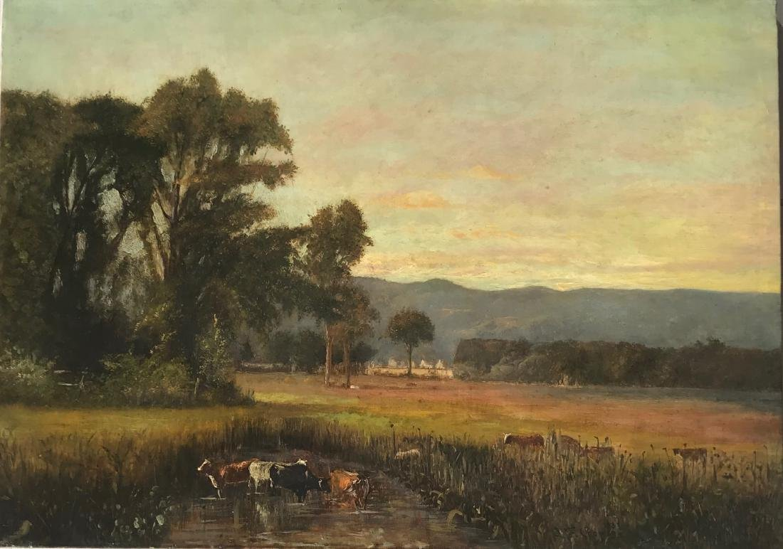 """Jasper Francis Cropsey (1823 - 1900) """"Landscape with"""