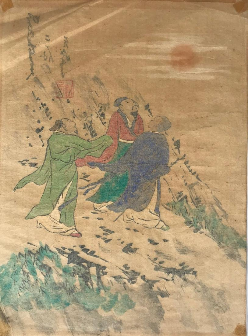 Chinese watercolor on rice paper, unknown signature