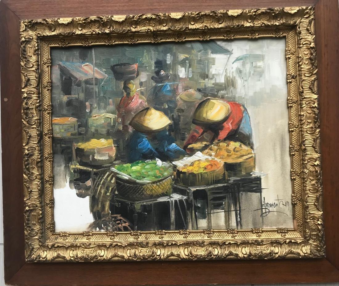 Eddie Sarmiento 69. Oil on canvas