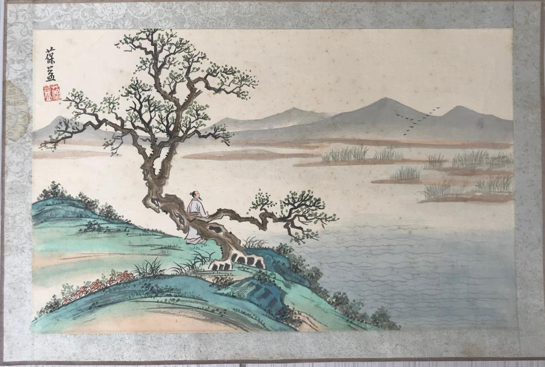 Chinese watercolor signed by the artist