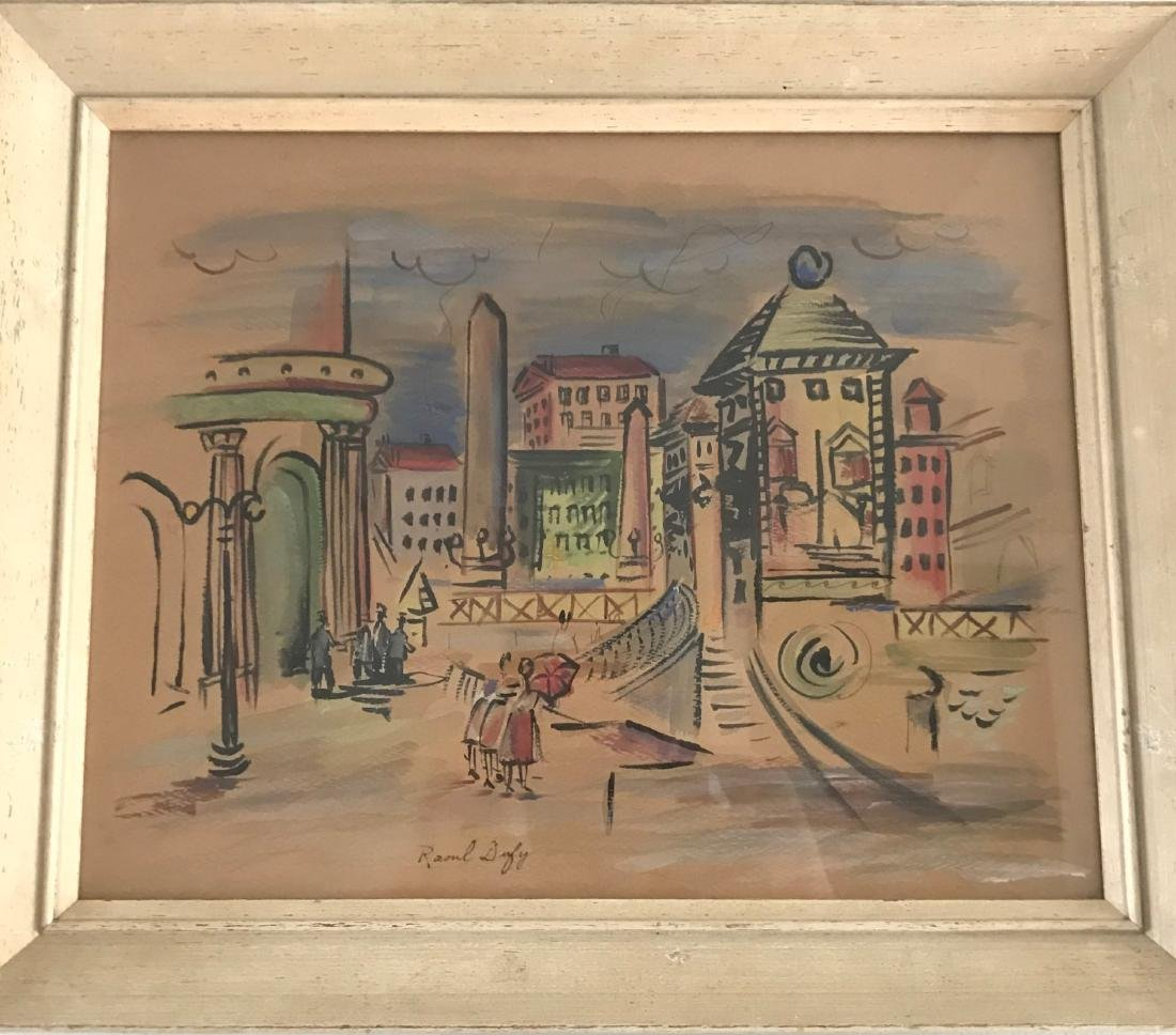 Watercolor on paper signed Raoul Dufy - 2