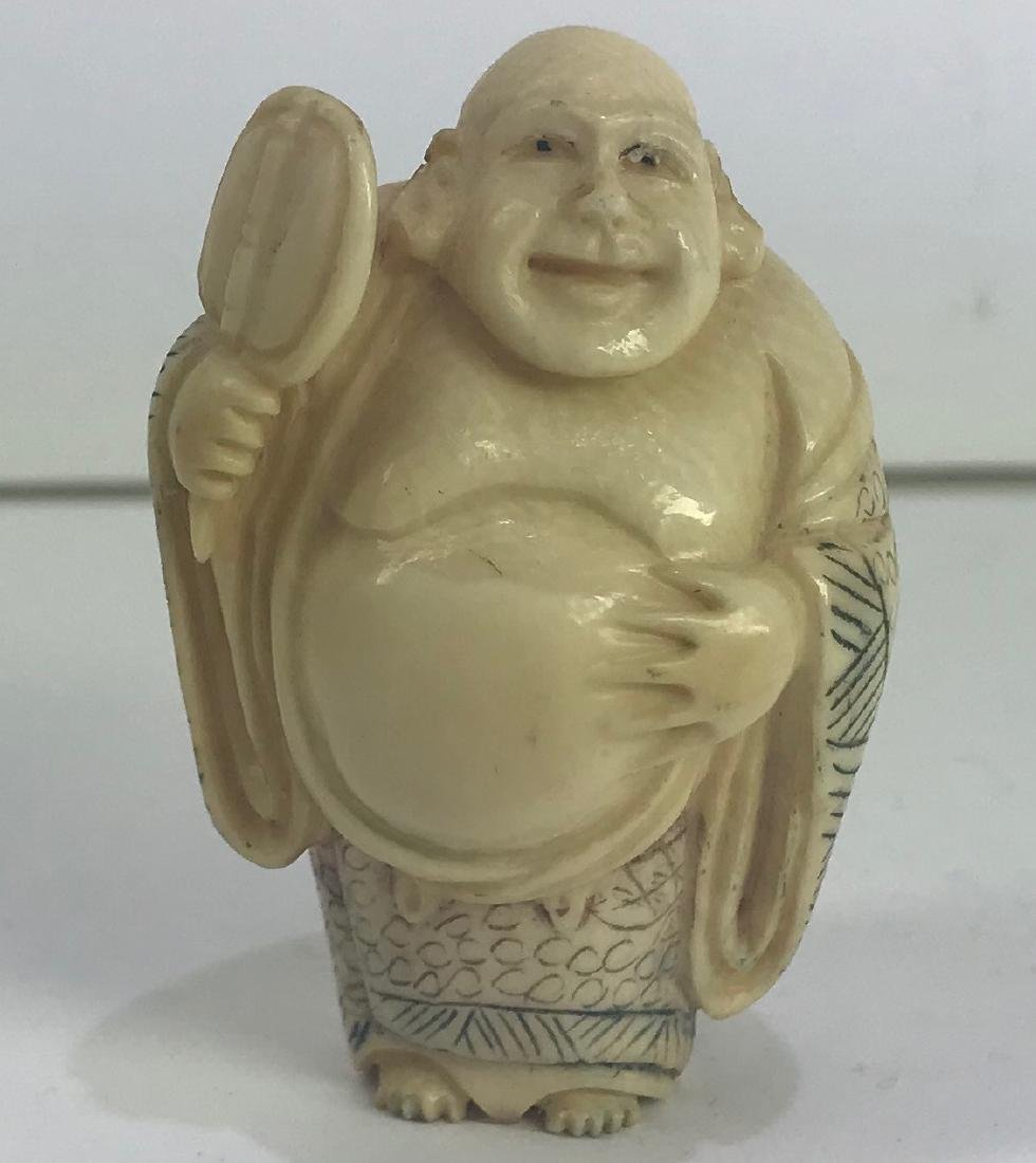 Antique hand carved Okimono figure