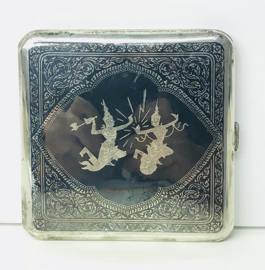 Vintage Solid Sterling Silver Cigarette Case, 1930's