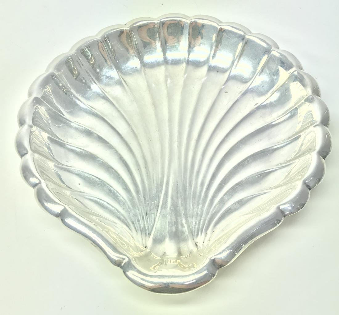 REED & BARTON STERLING SILVER SHELL TRAY
