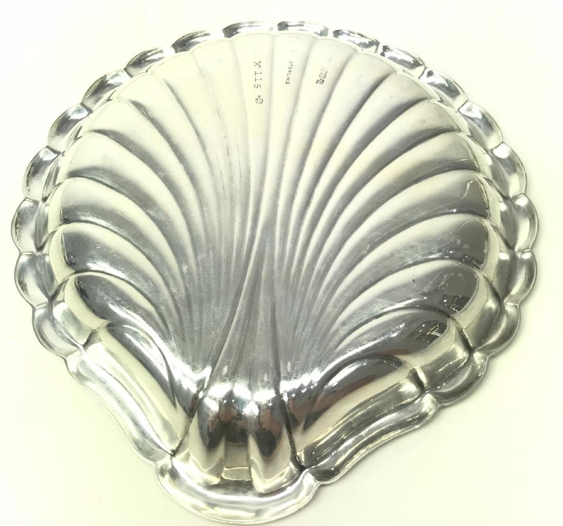 REED & BARTON STERLING SILVER SHELL TRAY - 2