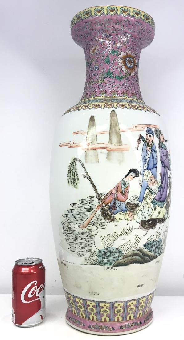 Large Chinese Porcelain Famille Rose Vase - 2