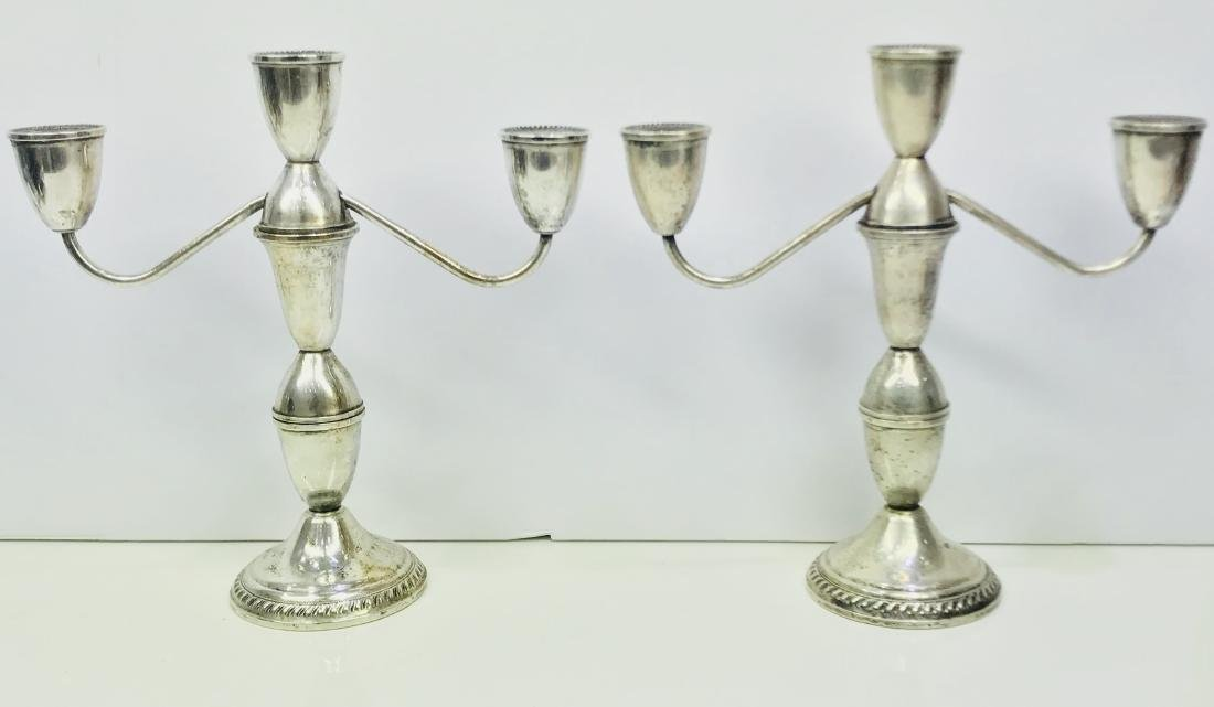 Antique rare a pair duchin creation weighted sterling