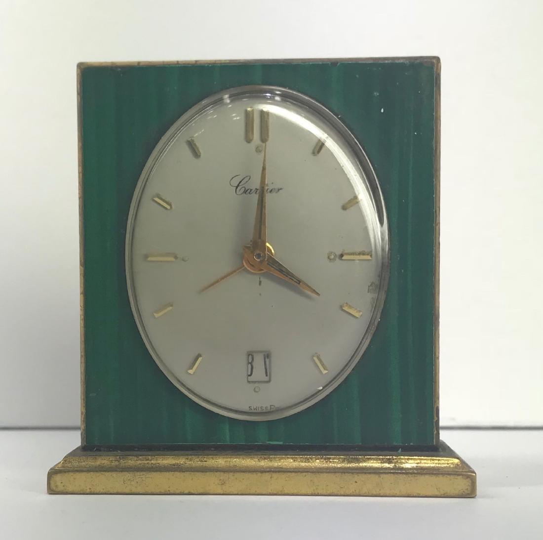 Vintage Cartier desk clock